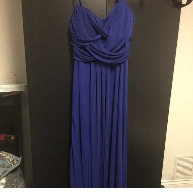 Navy Blue Long Dress Formal