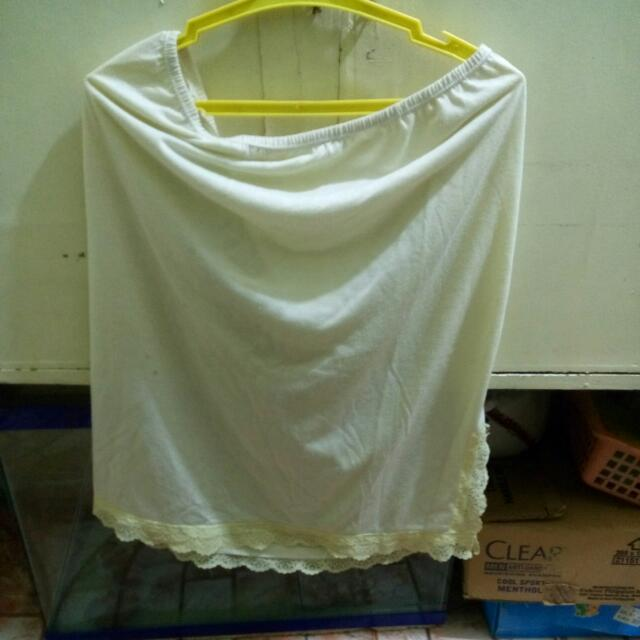 Opaque Yellow Lace Skirt XL Sale Item