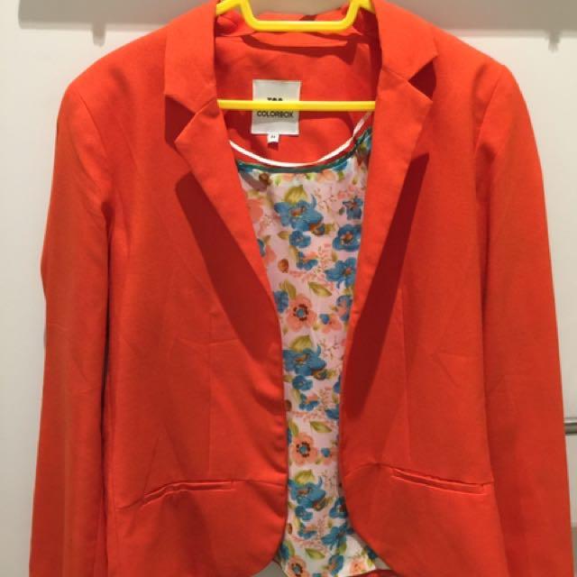 Orange Blazer By Colorbox