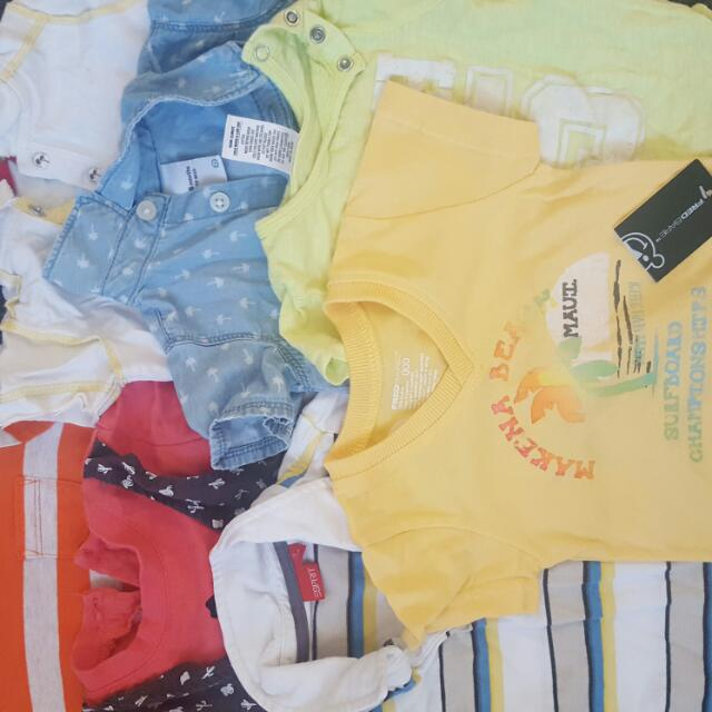 Over 60 Pieces Of NEW & Used Boys 3-9months Excellent Condition