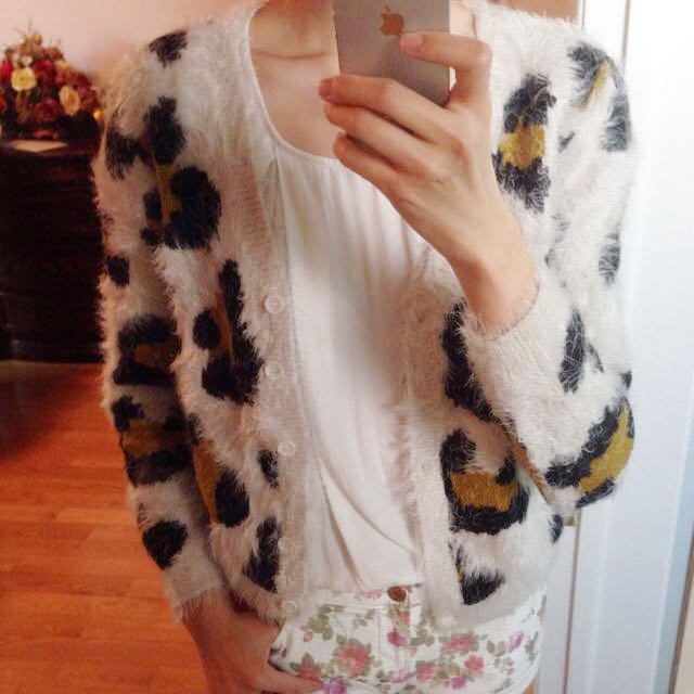 Patterned Sweater Jacket