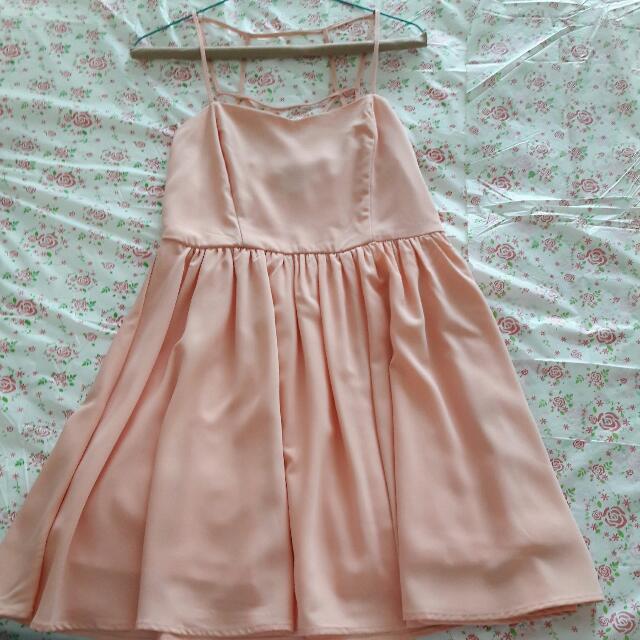 Peach Dress Forever 21 SGP (ORI)
