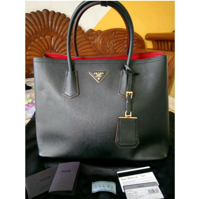 addda49b91 ... order prada saffiano double bagfast deal 1200 luxury bags wallets on  carousell c1100 5896b