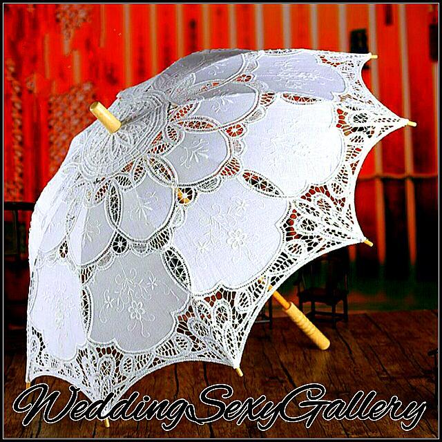 #1🌷▪PREORDER▪🌷Fashion Handmade Lace Parasol Sun Umbrella Wedding Bridal Party Show Stage Dancer Actress Decoration