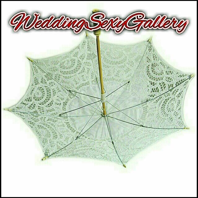 #41🌹▪PREORDER▪🌹Lace Parasol Umbrella Embroidered For Bridal Wedding Decoration Optional Size