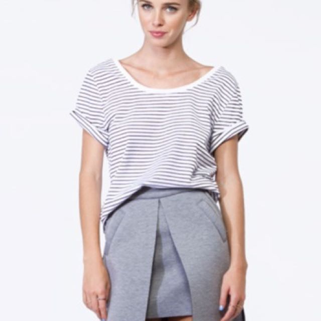 Princess Polly Peplum Grey Skirt