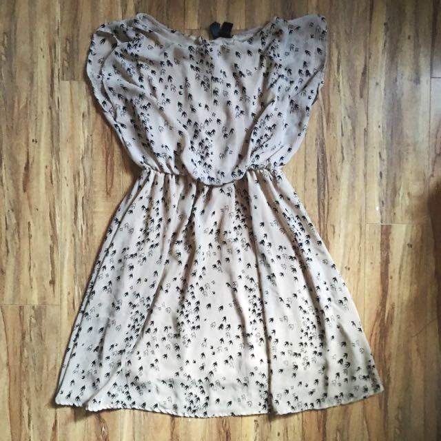 Raven Print Dress