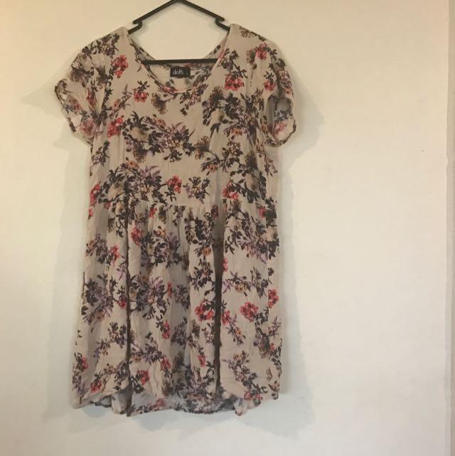 Size 10 Floral Babydoll Dress