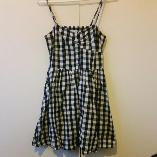 Size M Cotton On Mini Dress In Gingham Patter