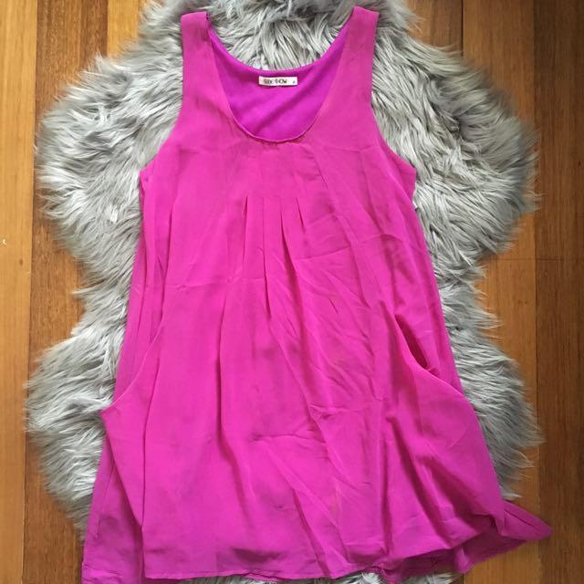 Slide Show Fuchsia Sleevless Dress (8)