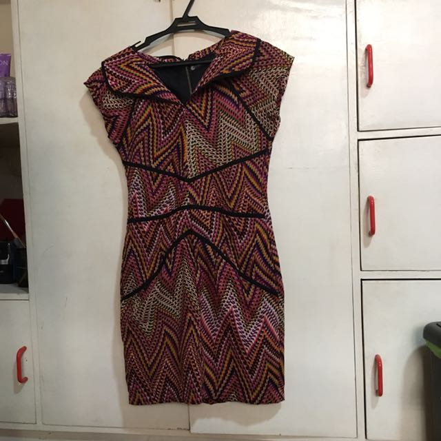 SPACE Collared Aztec Dress