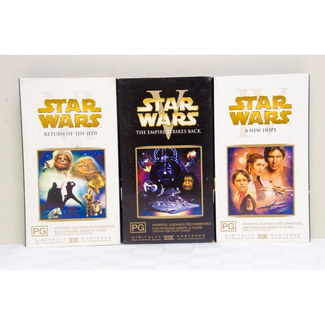 Star Wars VHS Movie Pack - A New Hope, Return Of The Jedi & The Empire Strikes..