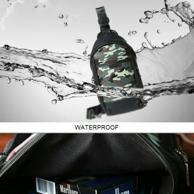 Tas Selempang Eton Weag Army Water Proof