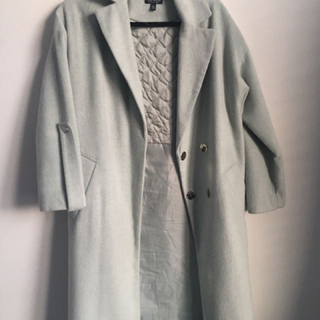 Teal Trench Coat From Too Shop