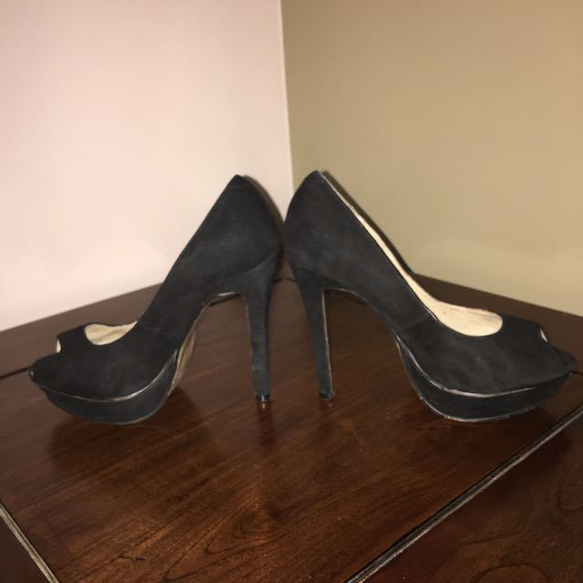 Tony Blanco Suede Stilettos Sz 5.5