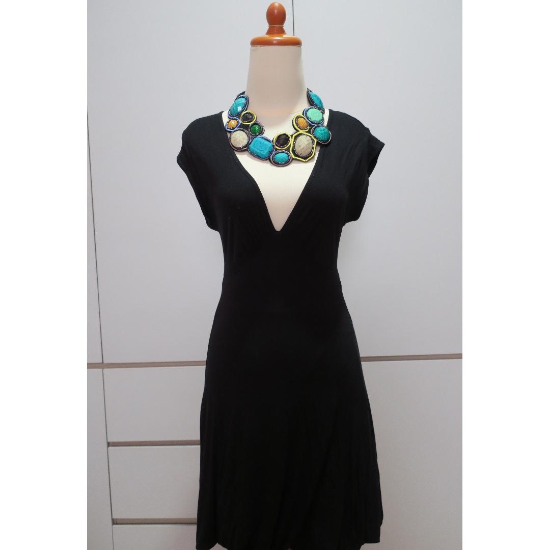 Topshop Petite Mini Black Dress