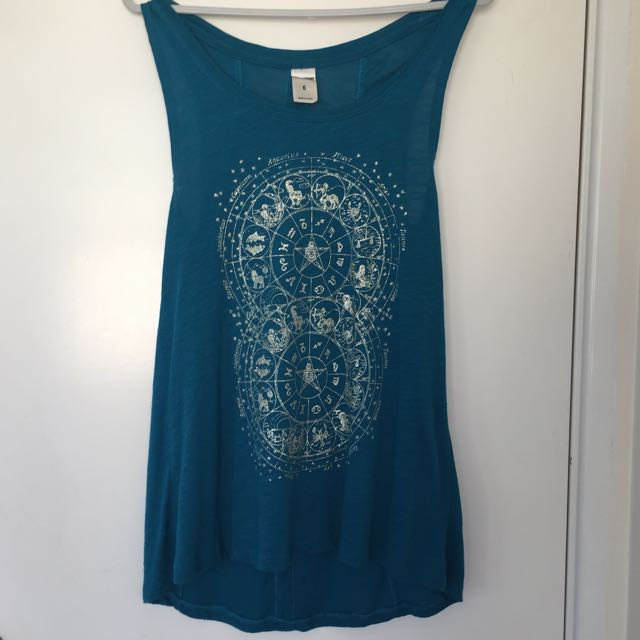 Turquoise Blue Astrology Tank