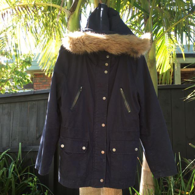 Winter Jacket W/ Fluffy Hood