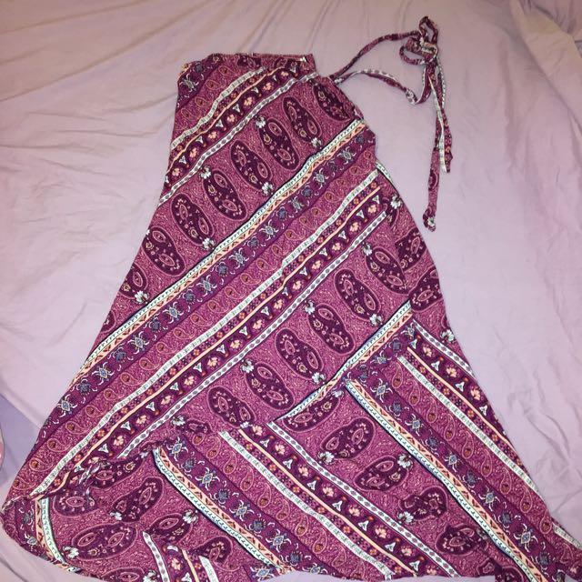 Wrap Around Maxi Skirt