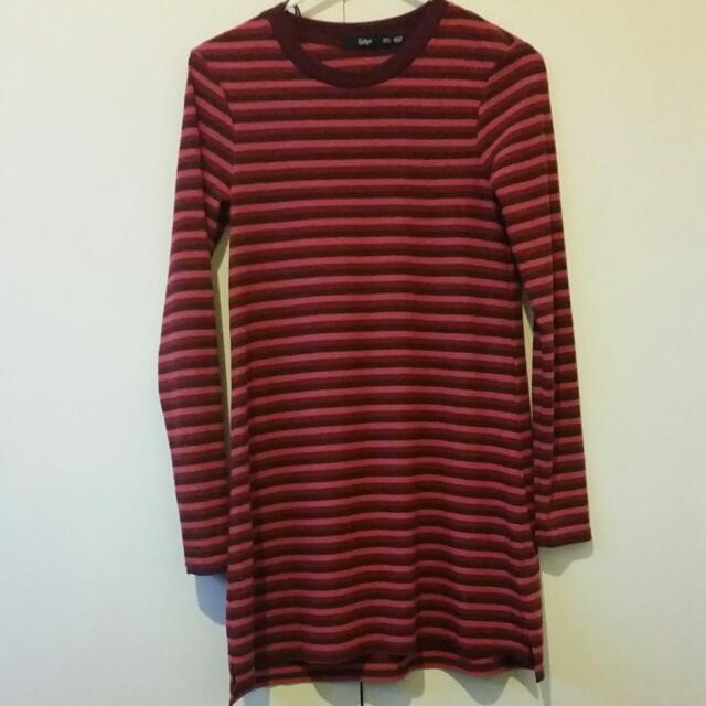 XXS Sportsgirl Mini Dress In Red Stripes