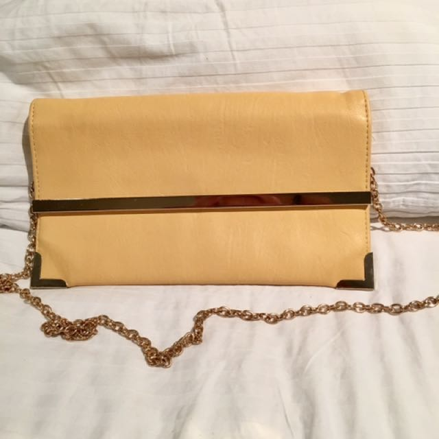 Yellow / Gold Collette Clutch