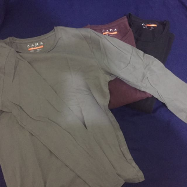 Zara Long Sleeves T-shirt - Grey