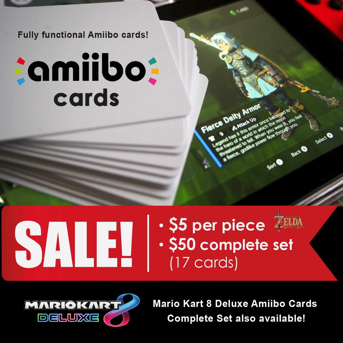 Zelda Amiibo Cards For Nintendo Switch Portable Solution Toys Red Blue Bundle 2games 2amiibo Games Video Gaming Accessories On Carousell