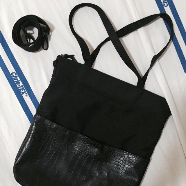 Zero Gravity Black And Croc Tote Bag