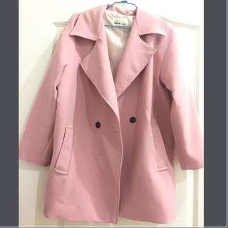 韓國連線 西裝外套 Oversize 粉紅