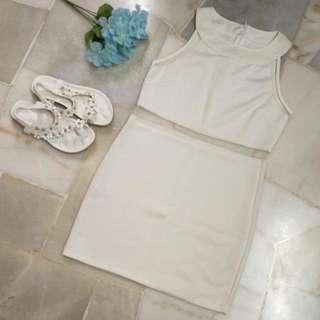 Milky White Dress