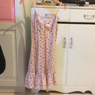 Baju Tidur Pink Bunga