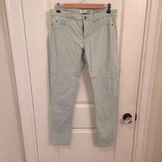 Mint Green Joe Fresh Slim Fit Jeans