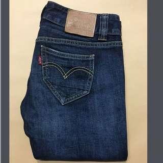 Levis W26L32 深藍牛仔褲 Slim版(501)正品