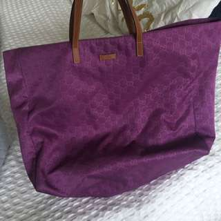 Gucci Nylon Purple Tote