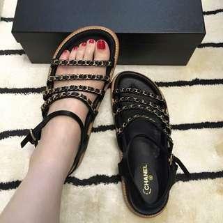 全新Chanel涼鞋38號