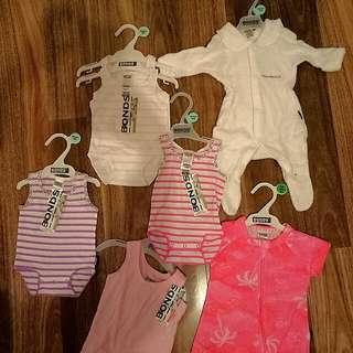 BONDS baby Wondersuit, Zippies, Singlet brand new with tags