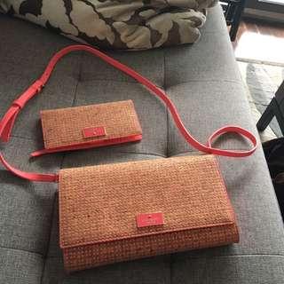 Kate Spade Cali Cork Crossbody Bag And Wallet