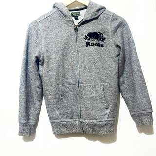 ROOTS ZIP UP SWEATER