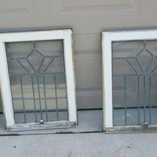 4 antique windows  $ 45 for each or best offer