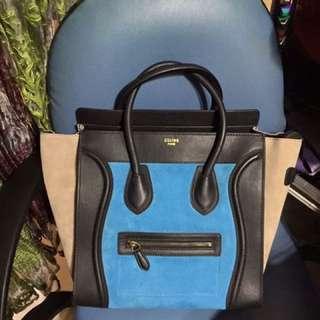 Celine Luggage Tricolor