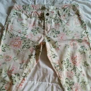 Floral Jeans