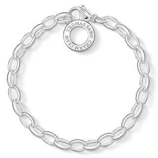 Charm Club Bracelet Sterling Silver M&L