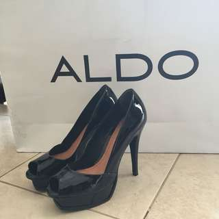 ALDO Black Platform Heels Size 39