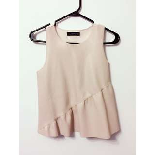 Zara Pink Leather Top