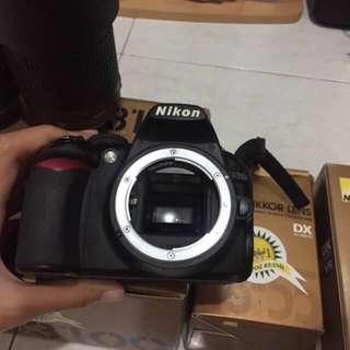 nikon d3100+lensa standar