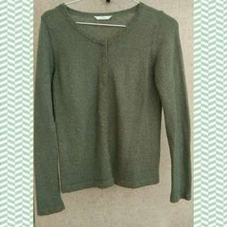 marks & spencer cardigan green army M