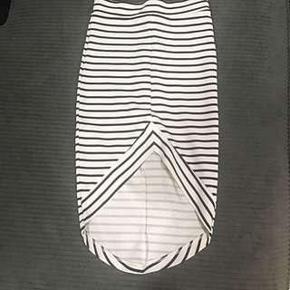 Black & White Striped Skirt