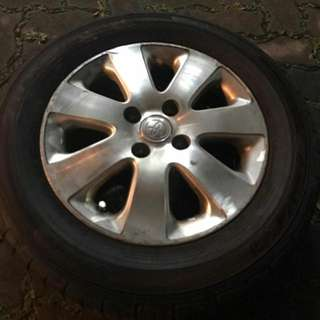 Toyota Vios Stock Rims 4x100 With Tyres Last Call