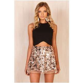 Sequin / Sparkly Peach Pink Skirt