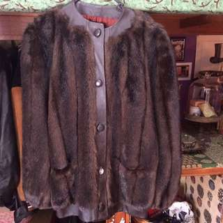 Faux Fur Coat With Leather Lining